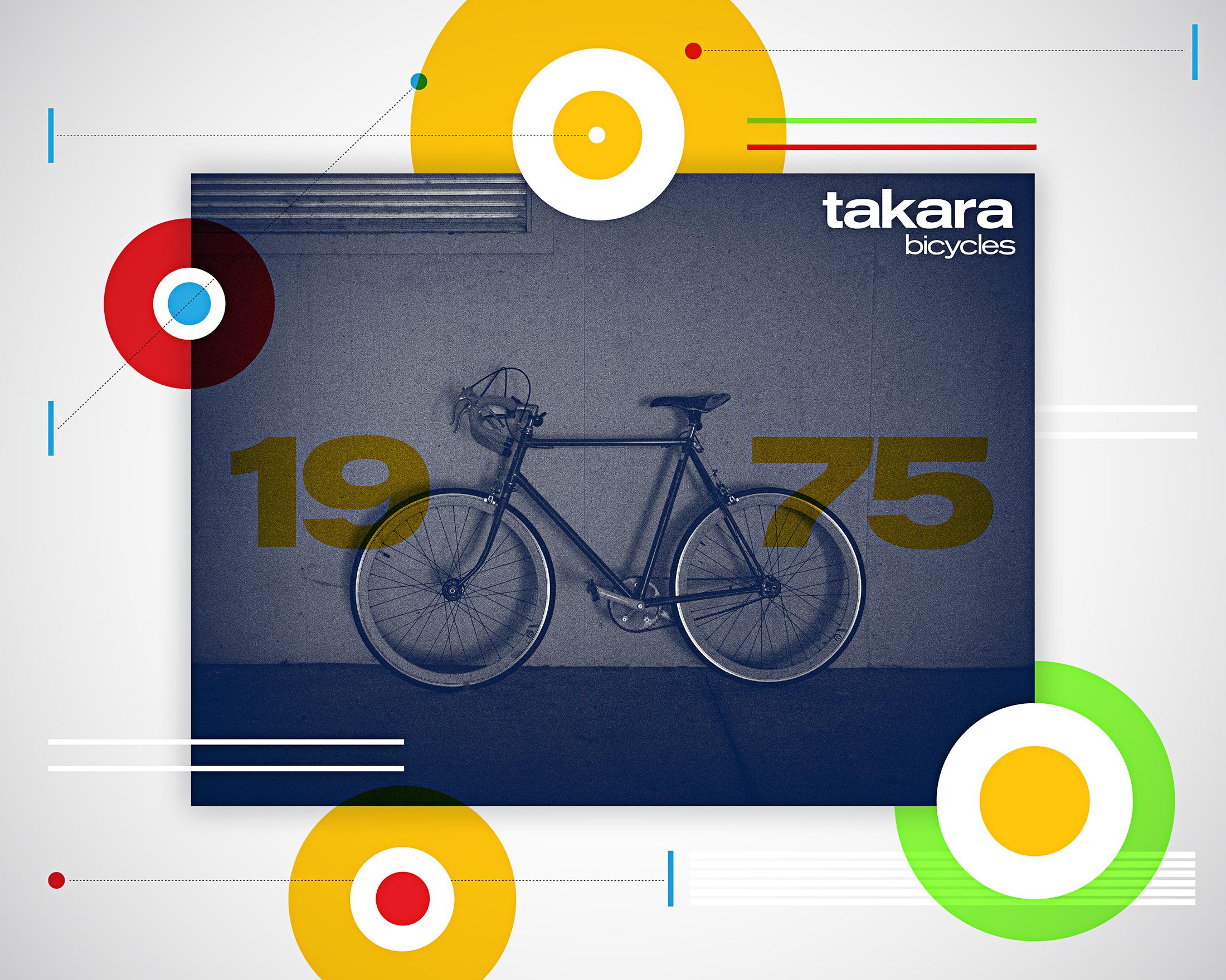 Jarred Elrod, Graphic Design, Bicycle, Takara, Color