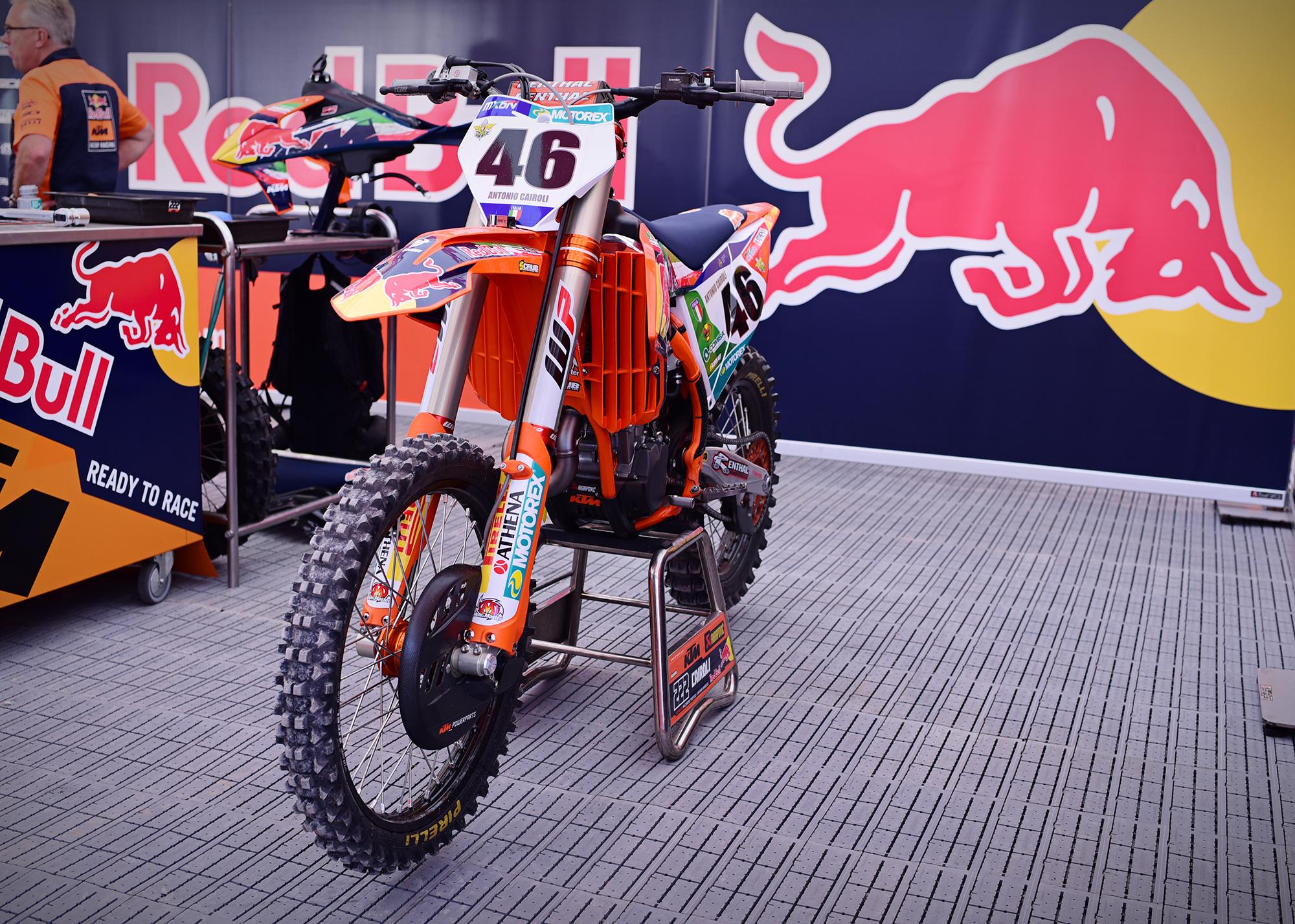 Tony Cairoli's MXoN 2021 motorcycle